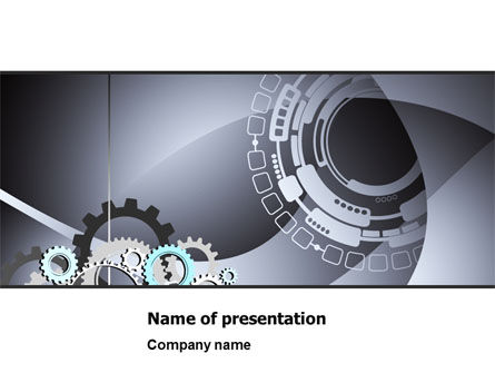 Gray Gears PowerPoint Template, 07175, Technology and Science — PoweredTemplate.com