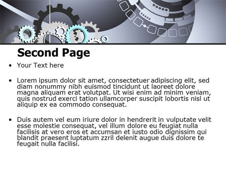Gray Gears PowerPoint Template, Slide 2, 07175, Technology and Science — PoweredTemplate.com