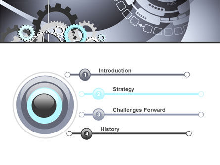 Gray Gears PowerPoint Template, Slide 3, 07175, Technology and Science — PoweredTemplate.com