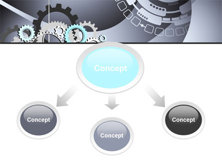 Gray Gears PowerPoint Template, Slide 4, 07175, Technology and Science — PoweredTemplate.com