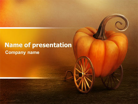 Art & Entertainment: Pumpkin Carriage PowerPoint Template #07176