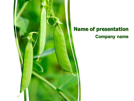 Pea Pods PowerPoint Template, 07180, Agriculture — PoweredTemplate.com