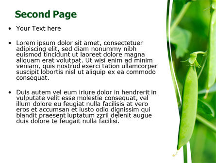 Pea Pods PowerPoint Template, Slide 2, 07180, Agriculture — PoweredTemplate.com