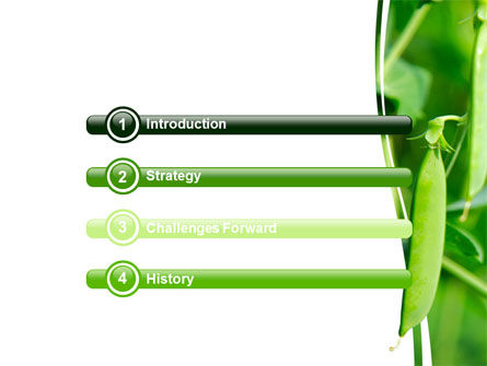 Pea Pods PowerPoint Template, Slide 3, 07180, Agriculture — PoweredTemplate.com
