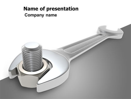 Utilities/Industrial: Wrench PowerPoint Template #07182