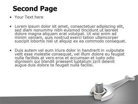 Wrench PowerPoint Template, Slide 2, 07182, Utilities/Industrial — PoweredTemplate.com