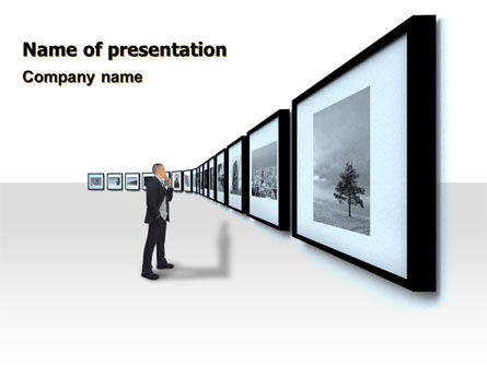 Art & Entertainment: Art Design Gallery PowerPoint Template #07184