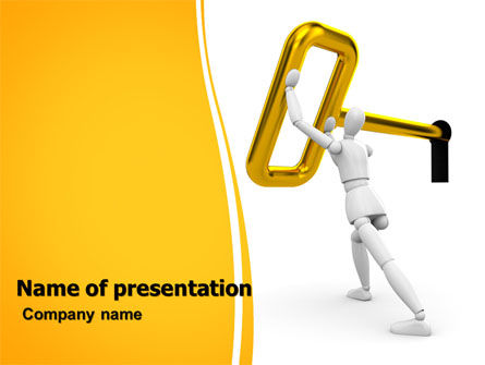 Consulting: Turning Key PowerPoint Template #07187
