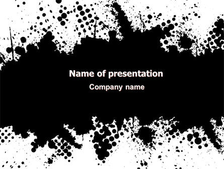 Black Splash PowerPoint Template