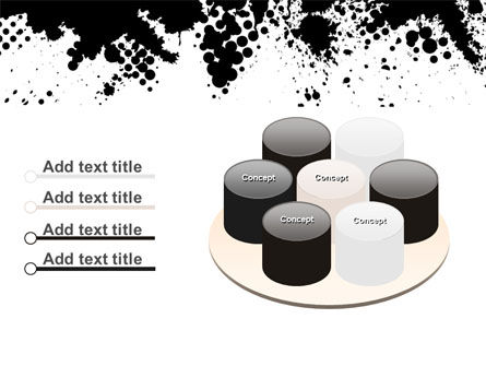 Black Splash PowerPoint Template Slide 12