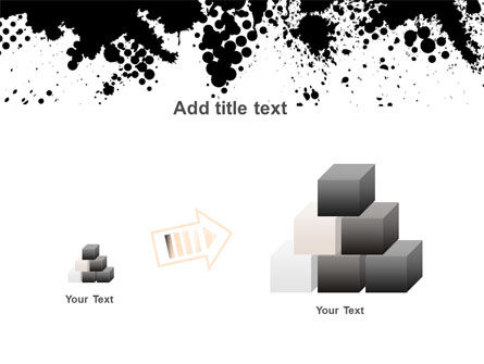 Black Splash PowerPoint Template Slide 13
