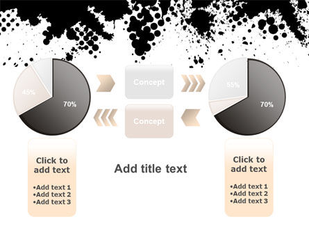 Black Splash PowerPoint Template Slide 16
