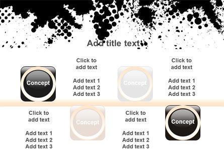 Black Splash PowerPoint Template Slide 18