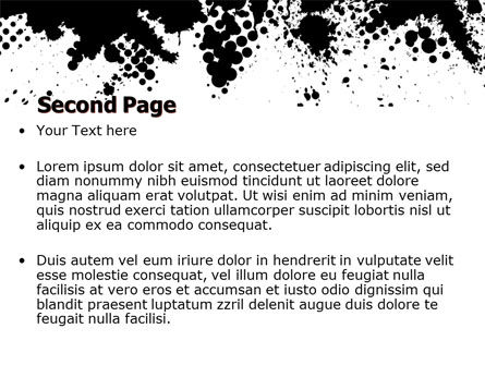 Black Splash PowerPoint Template Slide 2