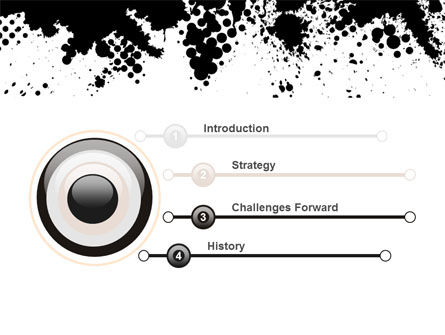 Black Splash PowerPoint Template Slide 3