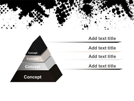Black Splash PowerPoint Template Slide 4
