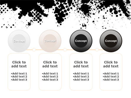 Black Splash PowerPoint Template Slide 5