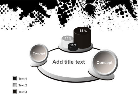 Black Splash PowerPoint Template Slide 6