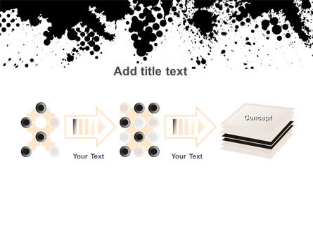 Black Splash PowerPoint Template Slide 9