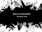 Abstract/Textures: Black Splash PowerPoint Template #07188