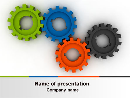 Colorful Gears PowerPoint Template, 07191, Consulting — PoweredTemplate.com