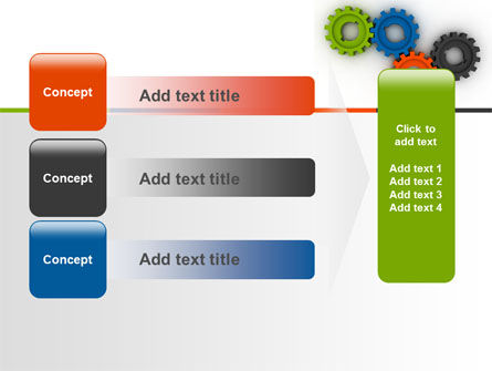 Colorful Gears PowerPoint Template Slide 12