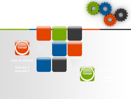 Colorful Gears PowerPoint Template Slide 16