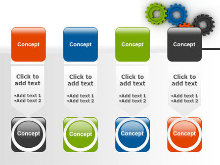 Colorful Gears PowerPoint Template Slide 18