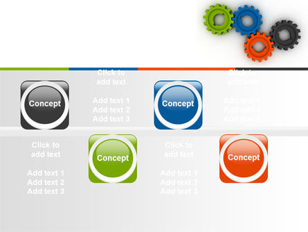 Colorful Gears PowerPoint Template Slide 19