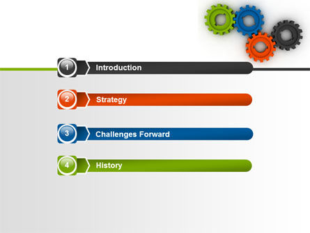 Colorful Gears PowerPoint Template, Slide 3, 07191, Consulting — PoweredTemplate.com