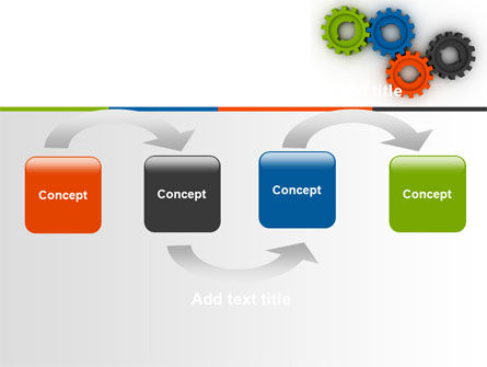 Colorful Gears PowerPoint Template Slide 4