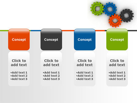 Colorful Gears PowerPoint Template Slide 5