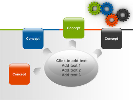 Colorful Gears PowerPoint Template Slide 7