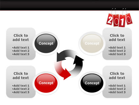 Year 2010 Theme PowerPoint Template Slide 9