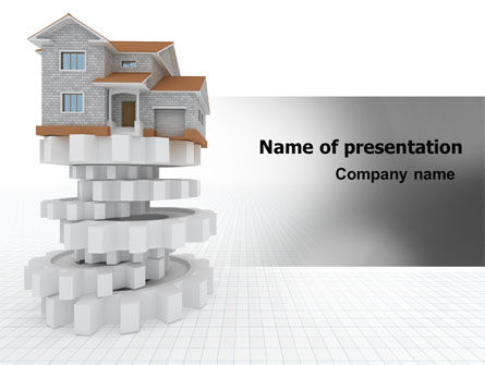 3D: Building Foundation PowerPoint Template #07194