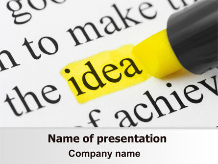 Consulting: Highlighted Idea PowerPoint Template #07196