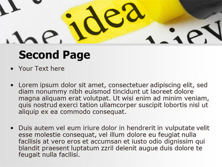 Highlighted Idea PowerPoint Template, Slide 2, 07196, Consulting — PoweredTemplate.com