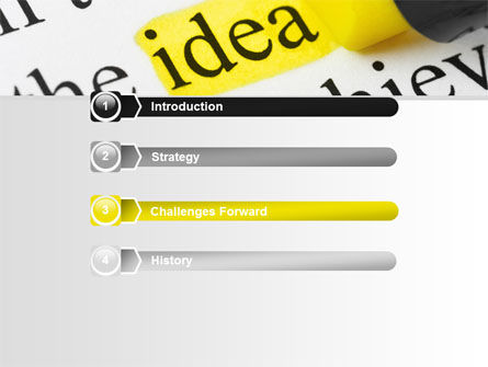 Highlighted Idea PowerPoint Template, Slide 3, 07196, Consulting — PoweredTemplate.com