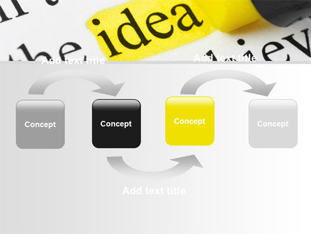 Highlighted Idea PowerPoint Template, Slide 4, 07196, Consulting — PoweredTemplate.com
