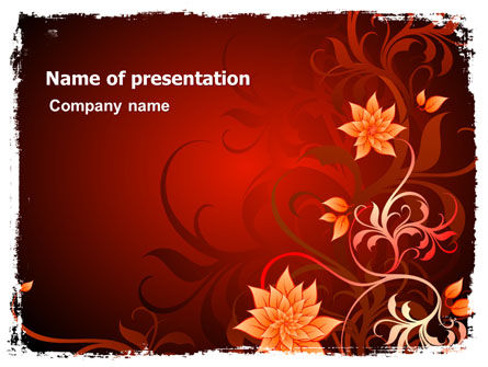 Abstract/Textures: Blooming Vinous Theme PowerPoint Template #07197