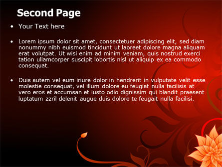 Blooming Vinous Theme PowerPoint Template Slide 2