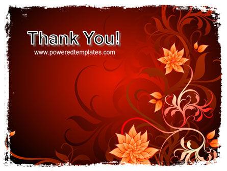 Blooming Vinous Theme PowerPoint Template Slide 20