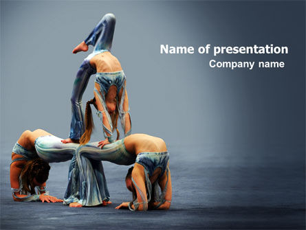 Acrobats PowerPoint Template, 07198, Art & Entertainment — PoweredTemplate.com