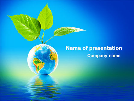 Fertile Earth PowerPoint Template, 07199, Global — PoweredTemplate.com