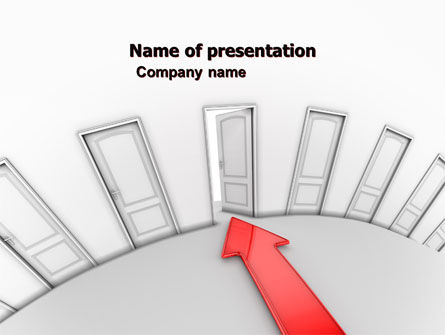 Consulting: Showing Way Out PowerPoint Template #07200
