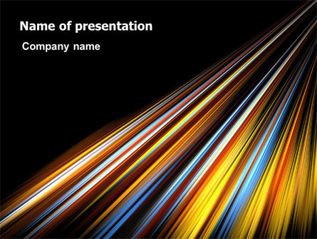 Abstract/Textures: Color Lines PowerPoint Template #07204