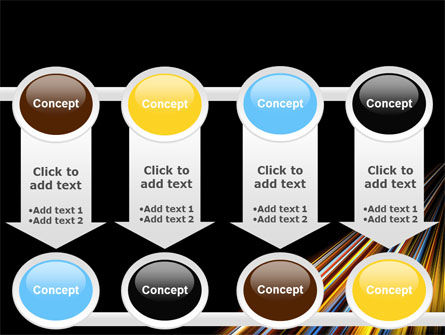 Color Lines PowerPoint Template Slide 18