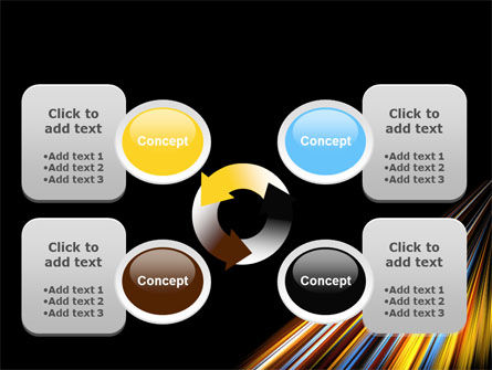 Color Lines PowerPoint Template Slide 9