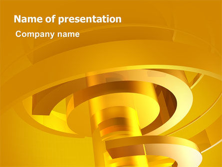 Abstract/Textures: Abstract Bolt PowerPoint Template #07206