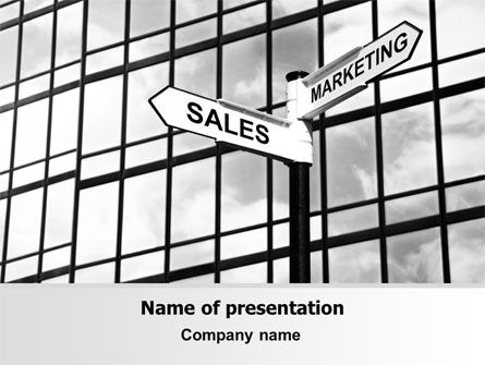 Careers/Industry: Marketing and Sales PowerPoint Template #07207